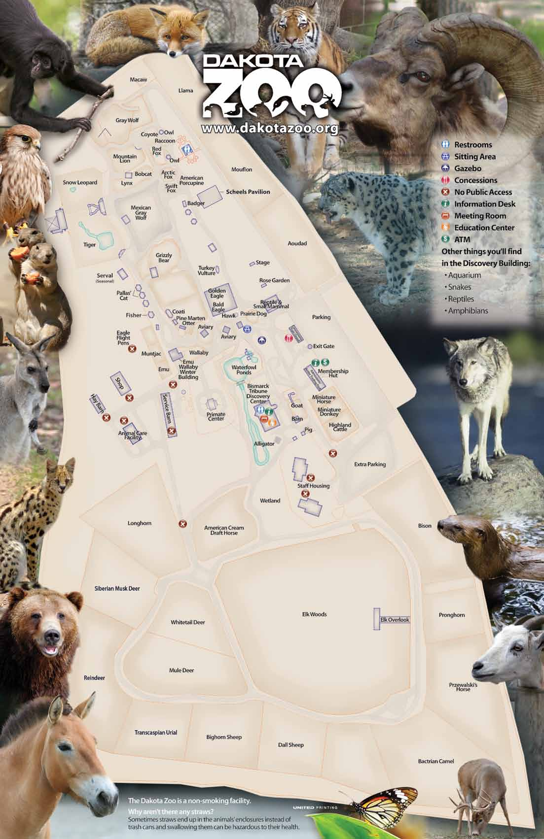 Map of Dakota Zoo
